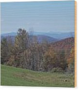 Distant Hills Wood Print