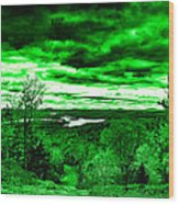 Distant Lakes Wood Print