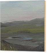 Distant Mist Wood Print