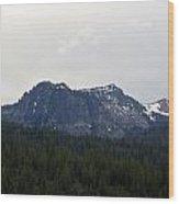 Distant Peak Of Stone Wood Print