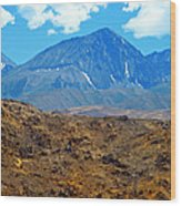 Distant Peaks Wood Print