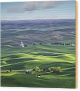 Distant Vista From Steptoe Butte Wood Print