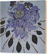 Distorted Flower-dream Wood Print