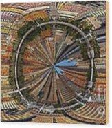 Distorted Lower Manhattan Wood Print
