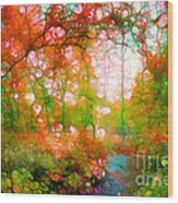 Distortions Of Autumn Wood Print