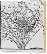 District Of Columbia, 1801 Wood Print