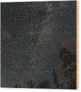 Disturbing The Milky Way Wood Print