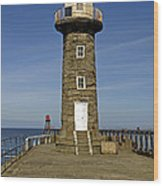 Disused East Pier Lighthouse - Whitby Wood Print