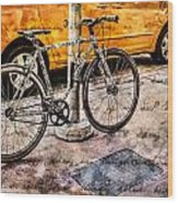 Ditchin' The Taxi To Ride Wood Print
