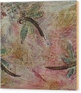 Rustic Dragonflies Pinks Wood Print