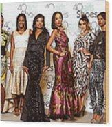 Divas Of The Runway Wood Print