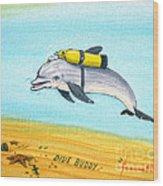 Dive Buddy Wood Print
