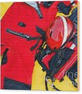 Diver Emergency Rescue Kit Wood Print