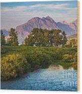 Divide Creek Morning Wood Print