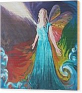 Divine Calling To Fly Wood Print