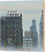 Divine Lorraine And City Hall - Philadelphia Wood Print