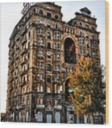 Divine Lorraine Hotel In Philadelphia Wood Print