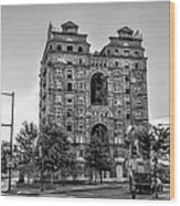 Divine Lorraine In Pain - Black And White Wood Print