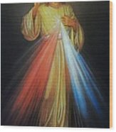 Divine Mercy Jesus Wood Print