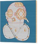 Diving Helmet Mark V Wood Print