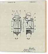 Diving Unit 1949 Patent Art  Wood Print by Prior Art Design