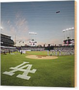 Division Series - New York Mets V Los Wood Print