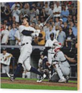 Divisional Round - Cleveland Indians v New York Yankees - Game Four Wood Print