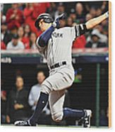 Divisional Round - New York Yankees v Cleveland Indians - Game Five Wood Print