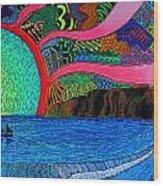 Dizzy Dana Point Wood Print
