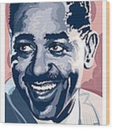 Dizzy Gillespie Portrait Wood Print