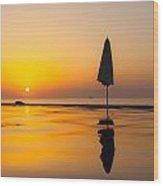 Djibouti Sunset Wood Print