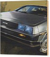Dmc Sports Car Wood Print