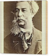 Dmitri I Vasilevich Grigorovich, Head-and-shoulders Portrait Wood Print