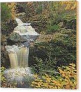 Doanes Falls In Autumn Wood Print