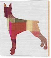 Doberman Pinscher Wood Print by Naxart Studio