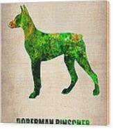Doberman Pinscher Poster Wood Print by Naxart Studio