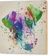 Doberman Splash Wood Print