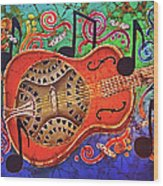 Dobro-slide Guitar-2 Wood Print
