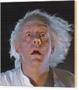 Doc Brown Wood Print