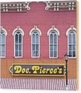 Doc Pierces Restaurant And Saloon Building Detail Wood Print