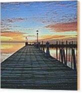 Dock A The Bay Wood Print