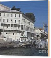 Dock At Alcatraz Island Wood Print