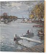Dock At The Bay North Tonawanda Wood Print