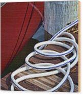 Dock Details Wood Print