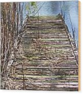 Dock In The Glades Wood Print