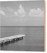 Dock, Mobile Bay Alabama, Usa Wood Print