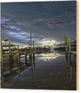 Dock Of The Bay Wood Print by Bob Jackson