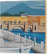 Dock On Mandalay Bay Wood Print