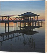 Dock On The Bay Wood Print