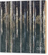 Dock Pilings Wood Print